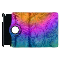 Fractal Batik Art Hippie Rainboe Colors 1 Apple Ipad 2 Flip 360 Case