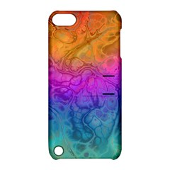 Fractal Batik Art Hippie Rainboe Colors 1 Apple Ipod Touch 5 Hardshell Case With Stand by EDDArt