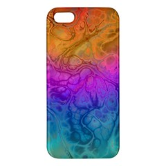 Fractal Batik Art Hippie Rainboe Colors 1 Apple Iphone 5 Premium Hardshell Case by EDDArt