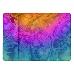 Fractal Batik Art Hippie Rainboe Colors 1 Samsung Galaxy Tab 10 1  P7500 Flip Case