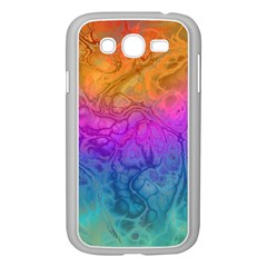 Fractal Batik Art Hippie Rainboe Colors 1 Samsung Galaxy Grand Duos I9082 Case (white) by EDDArt