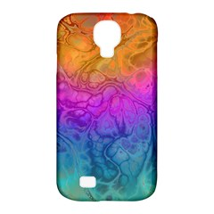 Fractal Batik Art Hippie Rainboe Colors 1 Samsung Galaxy S4 Classic Hardshell Case (pc+silicone) by EDDArt