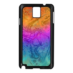 Fractal Batik Art Hippie Rainboe Colors 1 Samsung Galaxy Note 3 N9005 Case (black) by EDDArt