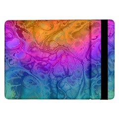 Fractal Batik Art Hippie Rainboe Colors 1 Samsung Galaxy Tab Pro 12 2  Flip Case by EDDArt