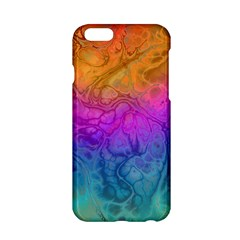Fractal Batik Art Hippie Rainboe Colors 1 Apple Iphone 6/6s Hardshell Case by EDDArt