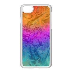 Fractal Batik Art Hippie Rainboe Colors 1 Apple Iphone 7 Seamless Case (white) by EDDArt