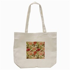 Watercolor Vintage Flowers Butterflies Lace 1 Tote Bag (cream) by EDDArt