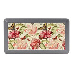 Watercolor Vintage Flowers Butterflies Lace 1 Memory Card Reader (mini) by EDDArt