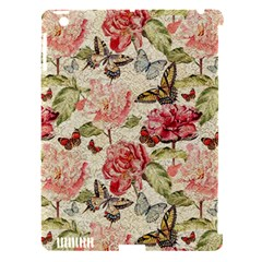 Watercolor Vintage Flowers Butterflies Lace 1 Apple Ipad 3/4 Hardshell Case (compatible With Smart Cover) by EDDArt