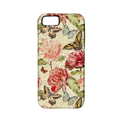 Watercolor Vintage Flowers Butterflies Lace 1 Apple Iphone 5 Classic Hardshell Case (pc+silicone) by EDDArt