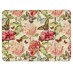 Watercolor Vintage Flowers Butterflies Lace 1 Samsung Galaxy Tab 7  P1000 Flip Case by EDDArt