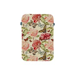 Watercolor Vintage Flowers Butterflies Lace 1 Apple Ipad Mini Protective Soft Cases by EDDArt