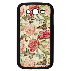 Watercolor Vintage Flowers Butterflies Lace 1 Samsung Galaxy Grand Duos I9082 Case (black) by EDDArt