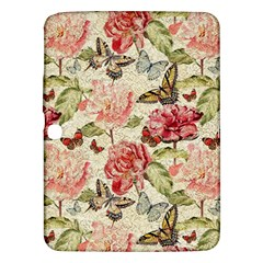 Watercolor Vintage Flowers Butterflies Lace 1 Samsung Galaxy Tab 3 (10 1 ) P5200 Hardshell Case  by EDDArt
