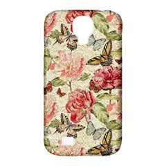 Watercolor Vintage Flowers Butterflies Lace 1 Samsung Galaxy S4 Classic Hardshell Case (pc+silicone) by EDDArt