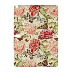 Watercolor Vintage Flowers Butterflies Lace 1 Samsung Galaxy Note 10 1 (p600) Hardshell Case by EDDArt