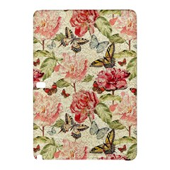Watercolor Vintage Flowers Butterflies Lace 1 Samsung Galaxy Tab Pro 10 1 Hardshell Case by EDDArt