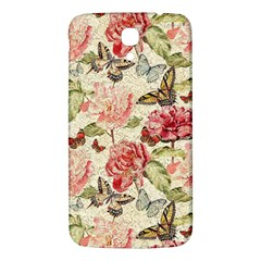 Watercolor Vintage Flowers Butterflies Lace 1 Samsung Galaxy Mega I9200 Hardshell Back Case by EDDArt