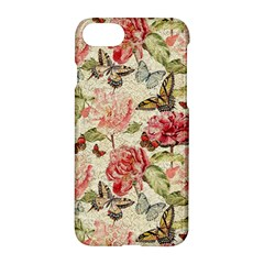 Watercolor Vintage Flowers Butterflies Lace 1 Apple Iphone 7 Hardshell Case by EDDArt