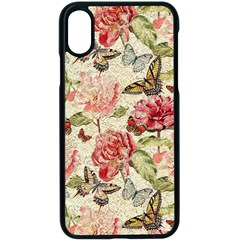 Watercolor Vintage Flowers Butterflies Lace 1 Apple Iphone X Seamless Case (black) by EDDArt