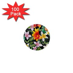 Tropical Flowers Butterflies 1 1  Mini Magnets (100 Pack)  by EDDArt