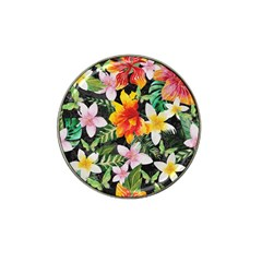Tropical Flowers Butterflies 1 Hat Clip Ball Marker (4 Pack) by EDDArt