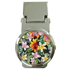Tropical Flowers Butterflies 1 Money Clip Watches by EDDArt
