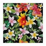 Tropical Flowers Butterflies 1 Medium Glasses Cloth Front