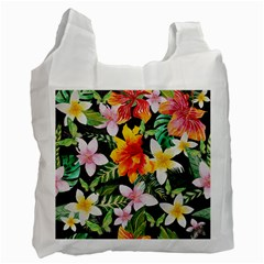Tropical Flowers Butterflies 1 Recycle Bag (one Side) by EDDArt