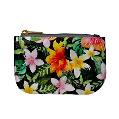 Tropical Flowers Butterflies 1 Mini Coin Purses by EDDArt