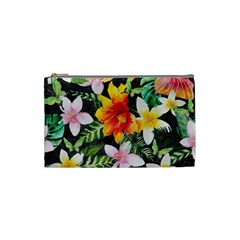 Tropical Flowers Butterflies 1 Cosmetic Bag (small)