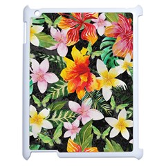 Tropical Flowers Butterflies 1 Apple Ipad 2 Case (white) by EDDArt