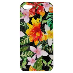 Tropical Flowers Butterflies 1 Apple Iphone 5 Hardshell Case by EDDArt