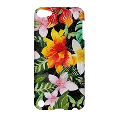 Tropical Flowers Butterflies 1 Apple Ipod Touch 5 Hardshell Case by EDDArt