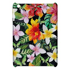 Tropical Flowers Butterflies 1 Apple Ipad Mini Hardshell Case by EDDArt