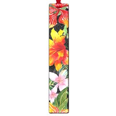 Tropical Flowers Butterflies 1 Large Book Marks by EDDArt