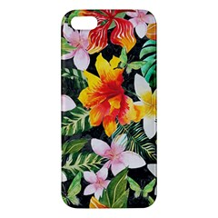 Tropical Flowers Butterflies 1 Apple Iphone 5 Premium Hardshell Case by EDDArt