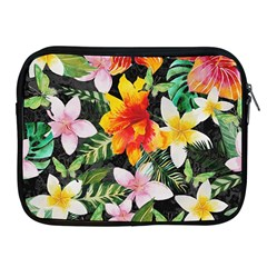 Tropical Flowers Butterflies 1 Apple Ipad 2/3/4 Zipper Cases by EDDArt