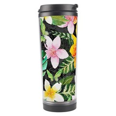 Tropical Flowers Butterflies 1 Travel Tumbler by EDDArt