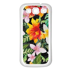 Tropical Flowers Butterflies 1 Samsung Galaxy S3 Back Case (white) by EDDArt