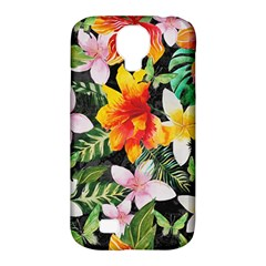 Tropical Flowers Butterflies 1 Samsung Galaxy S4 Classic Hardshell Case (pc+silicone) by EDDArt