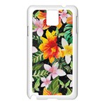 Tropical Flowers Butterflies 1 Samsung Galaxy Note 3 N9005 Case (White) Front