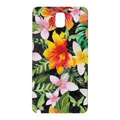 Tropical Flowers Butterflies 1 Samsung Galaxy Note 3 N9005 Hardshell Back Case by EDDArt