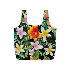 Tropical Flowers Butterflies 1 Full Print Recycle Bags (s)  by EDDArt