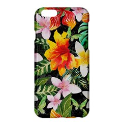 Tropical Flowers Butterflies 1 Apple Iphone 6 Plus/6s Plus Hardshell Case by EDDArt