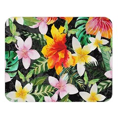 Tropical Flowers Butterflies 1 Double Sided Flano Blanket (large)  by EDDArt