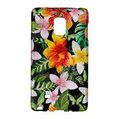 Tropical Flowers Butterflies 1 Samsung Galaxy Note Edge Hardshell Case by EDDArt