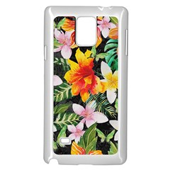 Tropical Flowers Butterflies 1 Samsung Galaxy Note 4 Case (white) by EDDArt