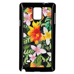 Tropical Flowers Butterflies 1 Samsung Galaxy Note 4 Case (black) by EDDArt