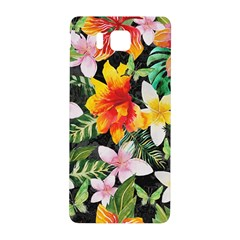 Tropical Flowers Butterflies 1 Samsung Galaxy Alpha Hardshell Back Case by EDDArt